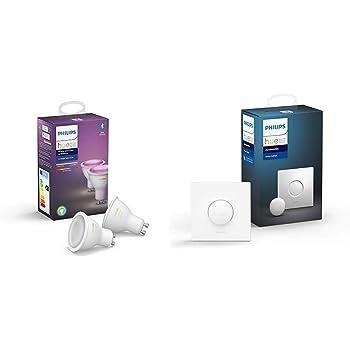 Philips Hue White and Color Ambiance - Paquete de 2 Bombillas LED ...