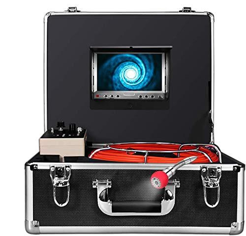 Telecamera di Ispezione senza fili, Contatore di Distanza, tubo di scarico, Telecamera Endoscopio Impermeabile con schermo LCD da 7 Pollici, Registratore DVR 1000TVL con Cavo 30M,Scheda SD 8G