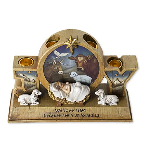 9' Advent Candle Holder - Advent Wreath - Baby Jesus and Barn Animals
