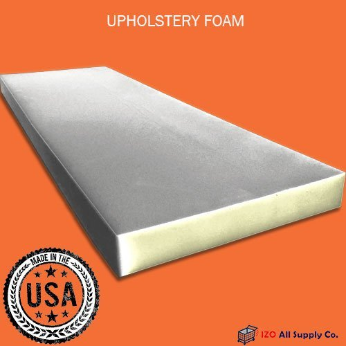 "IZO All Supply Upholstery Foam Cushion Medium Density, 4"" H x 24"" W x 72"" L"