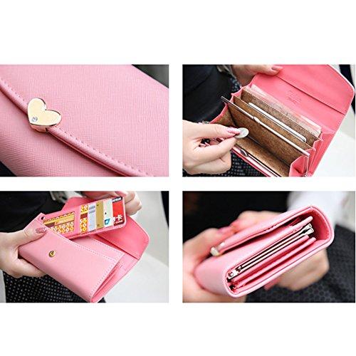 I9Q Donna tasto falso Pochette da giorno lady cartelle in portafoglio frizione borsa