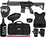 Action Village Tippmann TMC Protector Paintball Gun Package Kit Level 1 (Black/Black, Small/Medium)