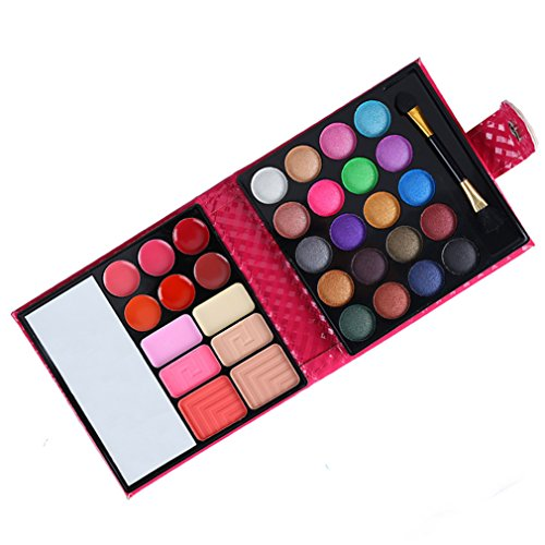 32 Farben Lidschatten Palette MakeUp Kosmetik Etui Box Satte Farben Augenschatten Pulver Makeup Kit...