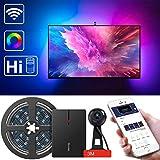 LED TV Hintergrundbeleuchtung, Govee WLAN TV Beleuchtung Kit mit Kamera, LED Strip mit Alexa, Musik Lichtband, TV Neigung Beleuchtung für 55-80 Zoll TV Kalibrierung auf APP (Nicht unterstützt 5G WiFi)