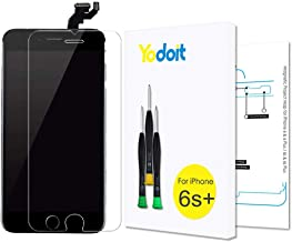 Yodoit for iPhone 6s Plus Screen Replacement Touch LCD Display Digitizer Glass Full Assembly Camera Home Button Proximity Sensor Earpiece Speaker + Tool 5.5 inches (Black)