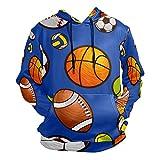 Moda impresión 3D Baloncesto de fútbol Rugby Patrón Unisex Pullover Cool Sudaderas con bolsillo canguro para hombres y mujeres