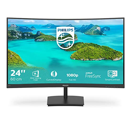 Philips 241E1SCA 24 Zoll FHD Curved Monitor FreeSync 1920x1080 75 Hz VGA HDMI schwarz