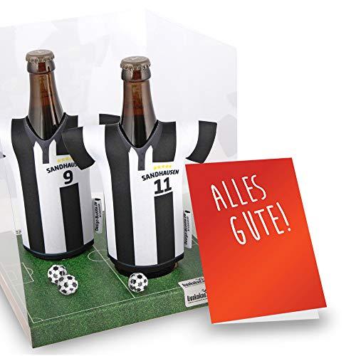vereins-Trikot-kühler Away für SV Sandhausen Fans | 2er Geschenk-Box-Edition| 2X Trikots | Fußball Fanartikel Jersey Bierkühler by ligakakao.de