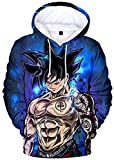 Bkckzzz Sudadera con Capucha Goku Vegeta para Hombre Sudadera con Capucha de Moda Canguro Pocket 3D Diseño vanguardista Personalizado Dragon Ball Z DBZ @ 2509bule_Galaxy-2_3XL (Altura: 175-180cm)