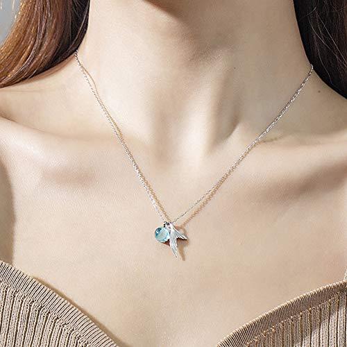 beautijiam Damen Halskette mit Meerjungfrauen-Anhänger mit Schlüsselbein