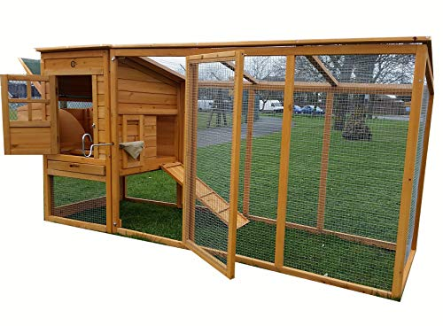 Large 8ft Chicken Coops Large Chicken Coop Hen House Ark Poultry Run Nest...