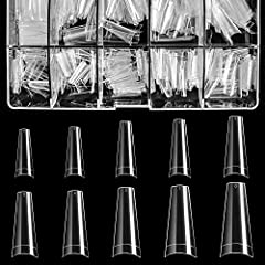 *Varied Sizes,Clear Case: BTArtbox 500PCS Clear French tip nails offers 10 different sizes with 50 nails of each size numbered 1-10 individually, so they're convenient to choose the most suitable size that fits your every finger. *Nail Tips Design: B...