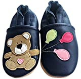 ENGEL + PIRATEN Krabbelschuhe - MARKENQUALITÄT viele Motive bis 4 Jahre Babyschuhe Leder Babyhausschuhe Lauflernschuhe Lederpuschen (20/21 EU, Teddy Girl)