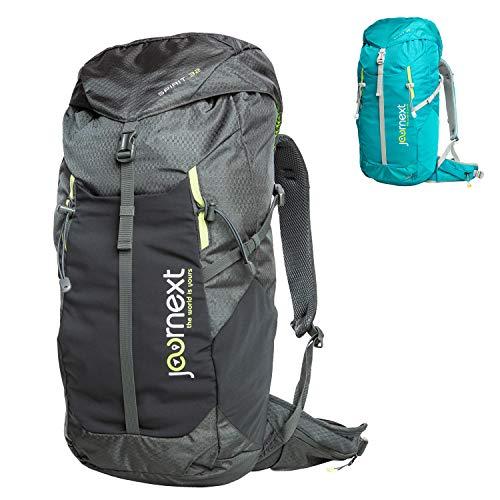 Journext Spirit 32 Rucksack, Wanderrucksack, Trekkingrucksack, 32 Liter, Unisex, leicht und stabil, Outdoorrucksack (Grau)