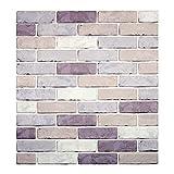 Papel tapiz de ladrillo 3D, repique extraíble y pegatina de pared de espuma PE para sala de estar 0.53m2/pcs (008 estilo ladrillo 5 Piezas)