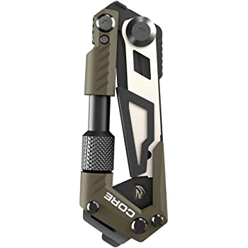 Real Avid Gun Tool CORE: Tactical, EDC Rifle Multitool with Carbon Scraper for Bolt and Bolt Carrier Components, OD Green, 15