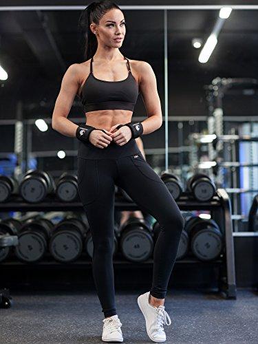 Handgelenkbandagen – für Kraftsport, Bodybuilding, Krafttraining, Crossfit & Fitness – für Damen und Herren – zum Schutz der Handgelenke beim Training – von Fitgriff - 4