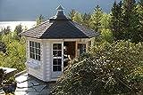 via nordica Grillhütte 9m²   Hochwertiges Grillhaus für den Garten   Als Bausatz inkl. Montagematerial