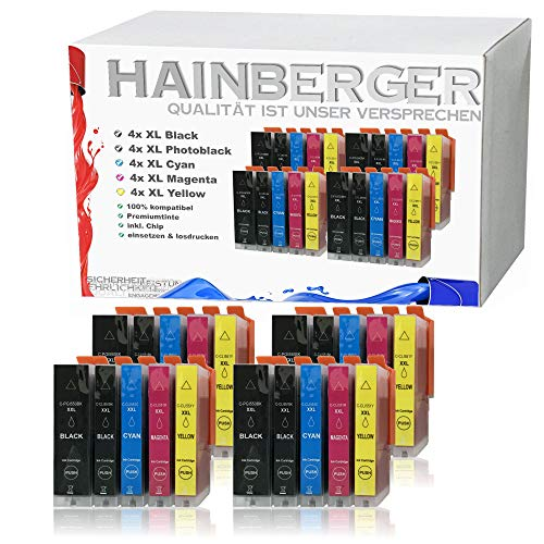 20x Hainberger XXL Patronen kompatibel zu Canon PGI-550 XL + CLI-551 für Pixma IP-7250 IX-6850 MG-5450 MG-5550 MG-5650 MG-5655 MG-6450 MG-6650 MX-725 MX-925