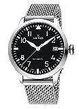 KRONOS - Pilot Automatic Black 990.8.55 - Reloj de Caballero automático, Brazalete de Acero, Color Esfera: Negra