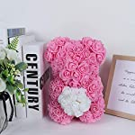 RECUTMS-Rose-Bear-with-Heart-Over-200-Flowers-on-Every-Rose-Bear-Perfect-for-Anniversarys-Birthdays-Bridal-Showers-Mothers-Etc-Clear-Gift-Box-Included-Pink1