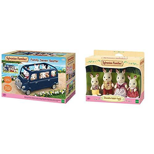SYLVANIAN FAMILIES Family Seven Seater Mini Muñecas Y Accesorios, (Epoch para Imaginar 5274) + Familia de Conejos