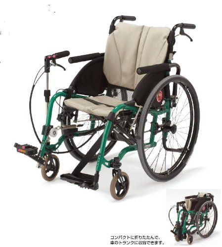 フランスベッド メディカルサービス 自走用車椅子 シリーズ 新 ペダモ (片麻痺の方よう車椅子) 左足用