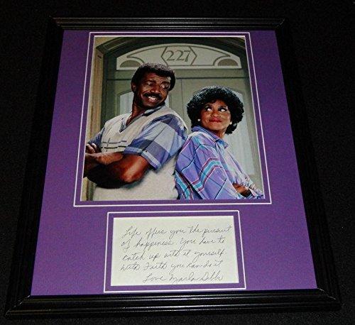 Marla Gibbs Signed Framed 11x14 Note & Photo Display 227 - JSA Certified