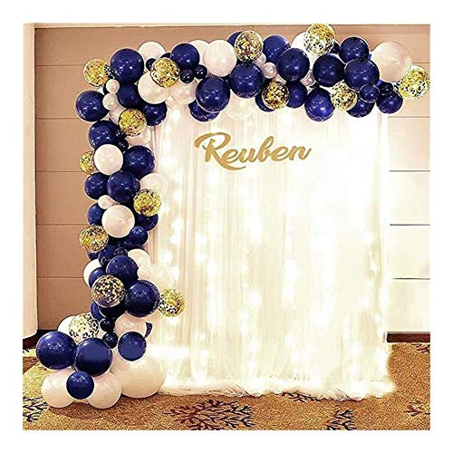 HTSM Anniversary Any Special Themes Dreamy Background Celebration Night Blue Balloon Combination Package Ink Blue Series Set Birthday Party Graduation Decoration Balloon