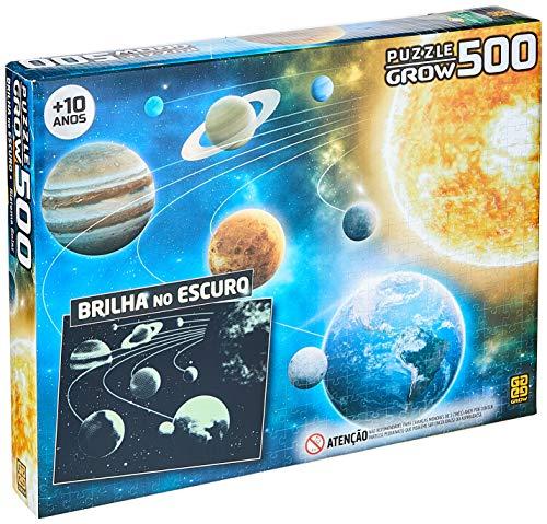 Grow - Sistema Solar Quebra-Cabeças 500 Peças, 10+ Anos, Multicor, (Grow 3727)