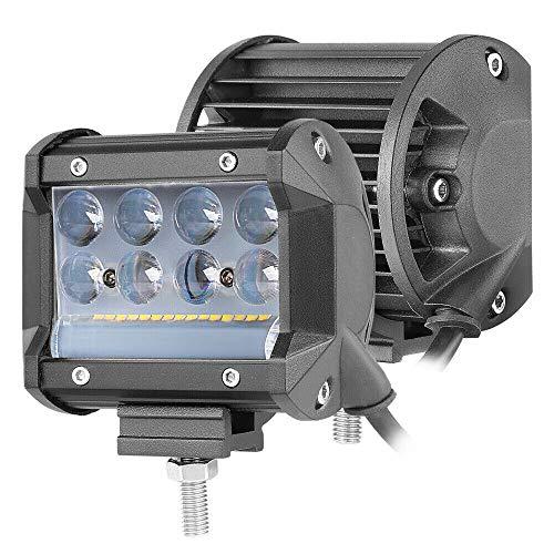 OFFROADTOWN LED Pods Light 2PCS 4 Inch 138W 13800LM Driving Fog Off Road Lights Spot Flood Combo Beam LED Cubes Lights LED Light Bar for Trucks ATV UTV SUV Boat Lighting