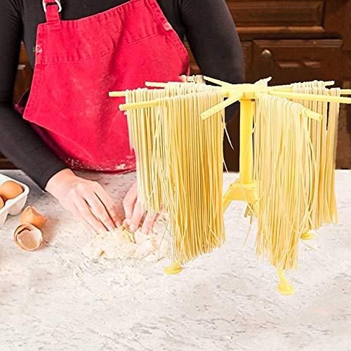 Küche Pasta Wäscheständer Falten Nudel Spaghetti Pasta Wäscheständer Ständer Trockner Faltbare Küche Werkzeug Wäscheständer Nudel Ständer Hohe Spaghetti Nudel Trockner Ständer(Gelb)