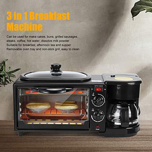 Máquina de parrilla OvenNon-Stick, máquina de desayuno de material de aleación de aluminio 1050W para desayuno(pink)