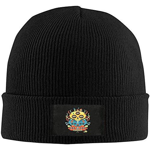 Bull Alien Herren Slouchy Beanie Warme Strickmützen Stilvolle Uhr Hut Wolle Baggy Slouchy Skull Cap