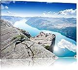 Pixxprint Preikestolen Lysefjord Norwegen als Leinwandbild
