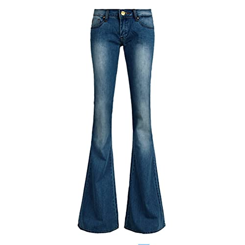 20154261706bd1 AvaCostume Women's Retro Slim Fit Bell-Bottom Wide Flared Jeans