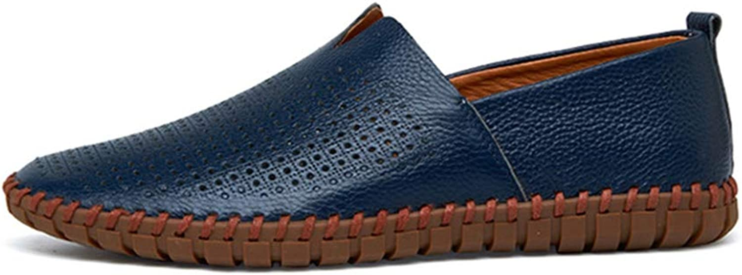 Men's shoes,Spring New Loafers & Slip-Ons Lazy shoes,Hollow-Out Comfort Breathable Driving shoes,b,42