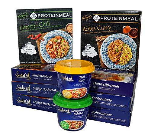 Probierpaket für den Lebensmittelvorrat - verschiedene Fertiggerichte für die Mikrowelle - keine Versandkosten - Südwind Lebensmittel