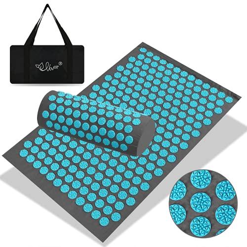 VOVOIR Acupuncture Mat and Pillow Set Relieve Back & Neck Pain Yoga Mat...