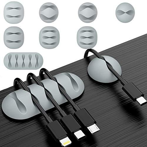 dasbulk ケーブルホルダー ケーブルクリップ ケーブルフック ケーブルドロップ 電線 配線アクセサリー 固定 オフィス 寝室 デスク 机 車インパネ コード まとめる 充電ケーブル 整理整頓収納 片づけ オーガナイザー TPU製 強力粘着 両面テープ