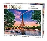 King 55851 Eiffel Tower at The Seine Rompecabezas 1000 Piezas, a Todo Color, 68 x 49 cm