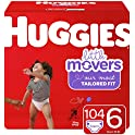 104 Count Huggies Little Movers Baby Diapers, Size 6