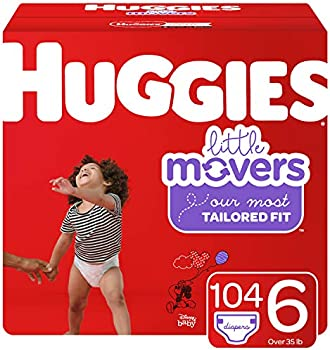 208-Count (2 x 104) Huggies Little Movers Baby Diapers (Size 6)
