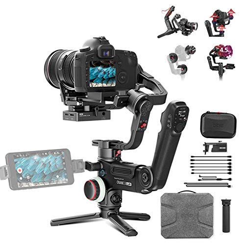 Zhiyun Crane 3 LAB 3-Axis Handheld Stabilizer Gimbal Redefine Stabilizer 4.5KG Payload for All Almost Mirrorless Cameras DSLRs,Versatile Structure,Wireless Image Transmission ViaTouch(Standard Pakege)