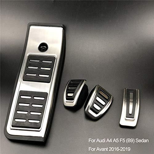 DANDELG Pedal del reposapiés del Acelerador del Freno del Coche, para Audi A1 A3 A4 B8 B9 A5 A6 A7 Q3 Q7, Apto para Touareg