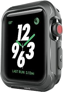 BOLAKER コンパチブル Apple watch保護ケース42mm 38mm、ドロップや衝撃耐性!iWatchケース、カバー、プロテクター、バンパー! iwatchケース・カバー、Apple Watch Series 3,Series 2,Series 1,nike+スポーツ運動系シリーズにも対応(ブラック) (42mm)