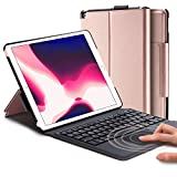 Keyboard Case for New iPad 8th Generation 10.2 inch 2020 / 7th (10.2 2019) / iPad Air 3rd Generation 10.5 2019/iPad Pro 10.5 2017– Stable Touchpad Function- (10.2/10.5', Rose Gold)