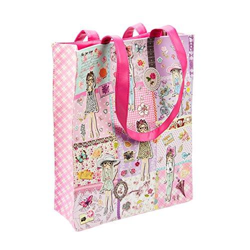 Wendekreis Berlin Shopper Girl's World süße Einkaufs-Tasche ca. 29x36x10cm