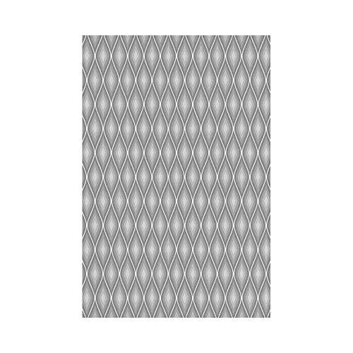 JKOVE Drapeau Grey Decor Rhombus Forms in Victorian Stylized Authentic Dual Linked Bound Interior Angle Shapes Whiteor Garden Drapeau de Jardin de Printemps Décoratif Drapeau de Jardi