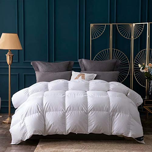 Globon Down Comforter King,Clean Plus Siberian Down Duvet Insert, 60OZ, 700 Fill Power, 100% Cotton Shell with Corner Tabs, Hypo-allergenic, Heavy Weight for Winter